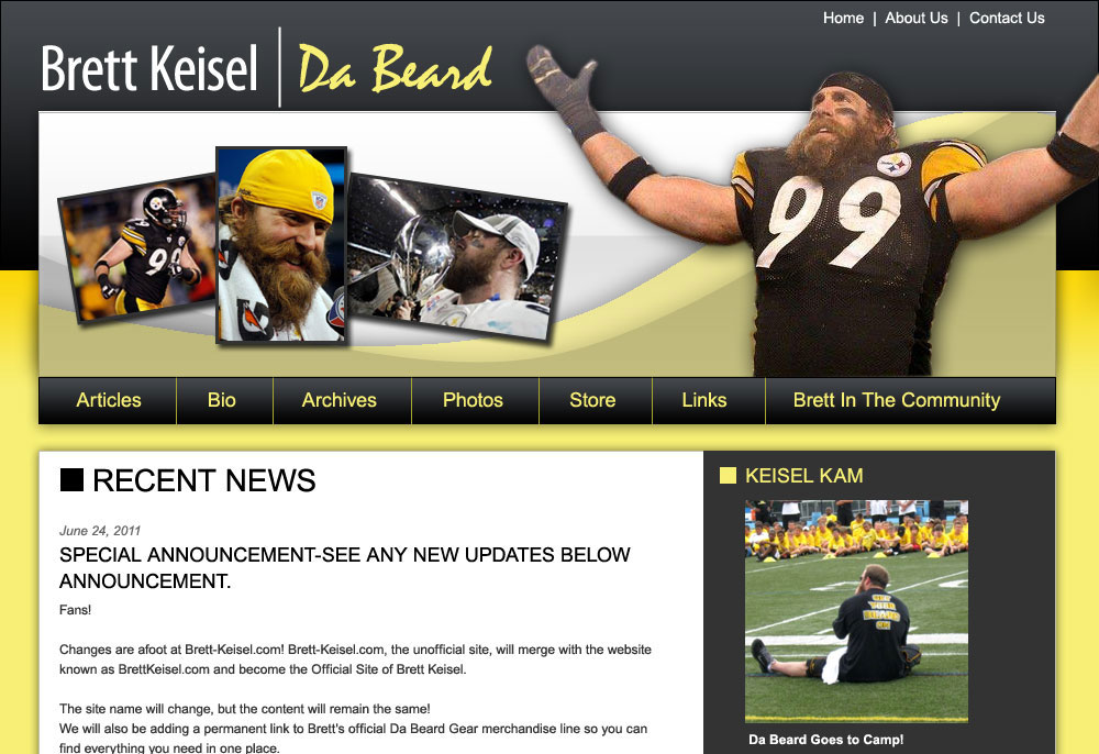 Brett Keisel Fan Site
