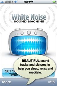 White Noise Sound Machine iPhone App | Blue Avenue Media