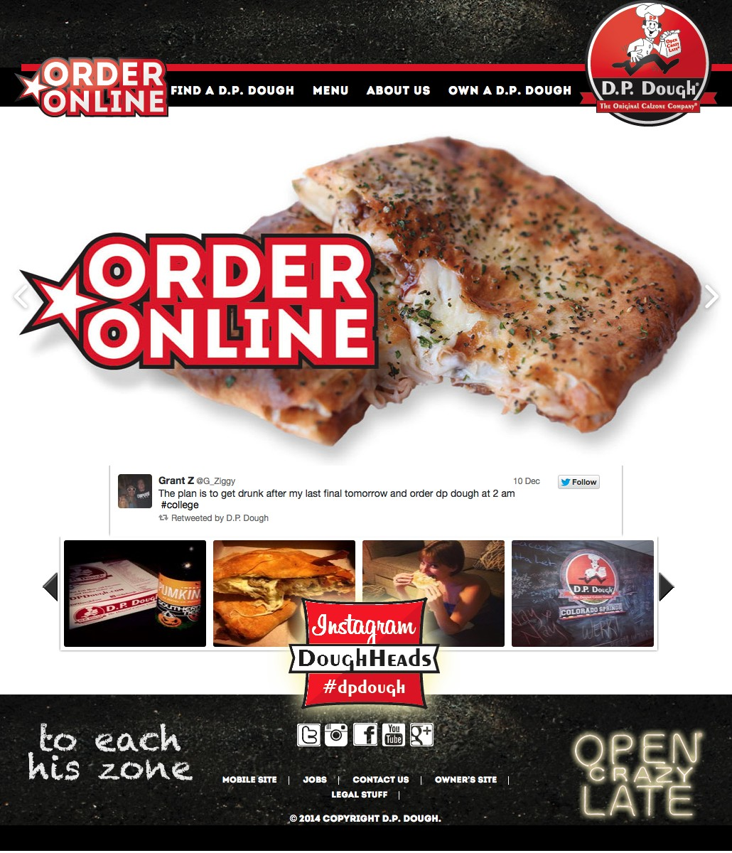 Web Site Redesign: DP Dough